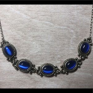 Bright Blue Accent Necklace